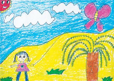 儿童画春天的图片
