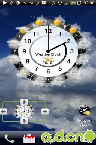 天气时钟插件