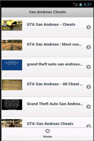 圣安地列斯秘籍 San Andreas Cheats