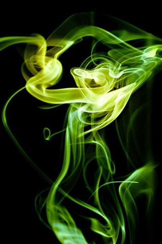 梦幻彩色烟雾壁纸和烟雾壁纸与各种单独的颜色(绿色