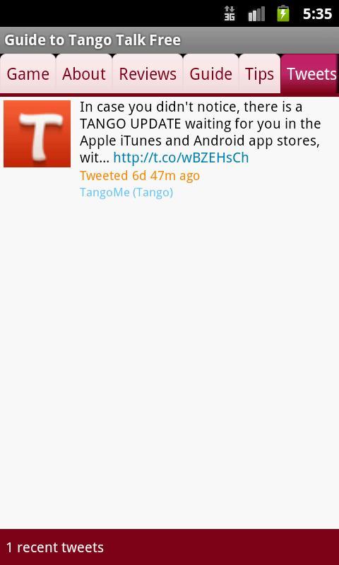 Guide to Tango Free Talk
