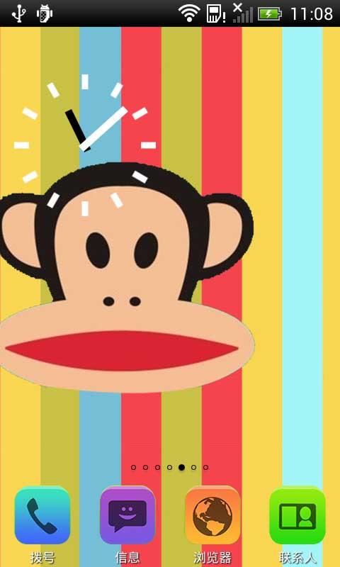 大嘴猴条纹控-桌面主题-应用截图