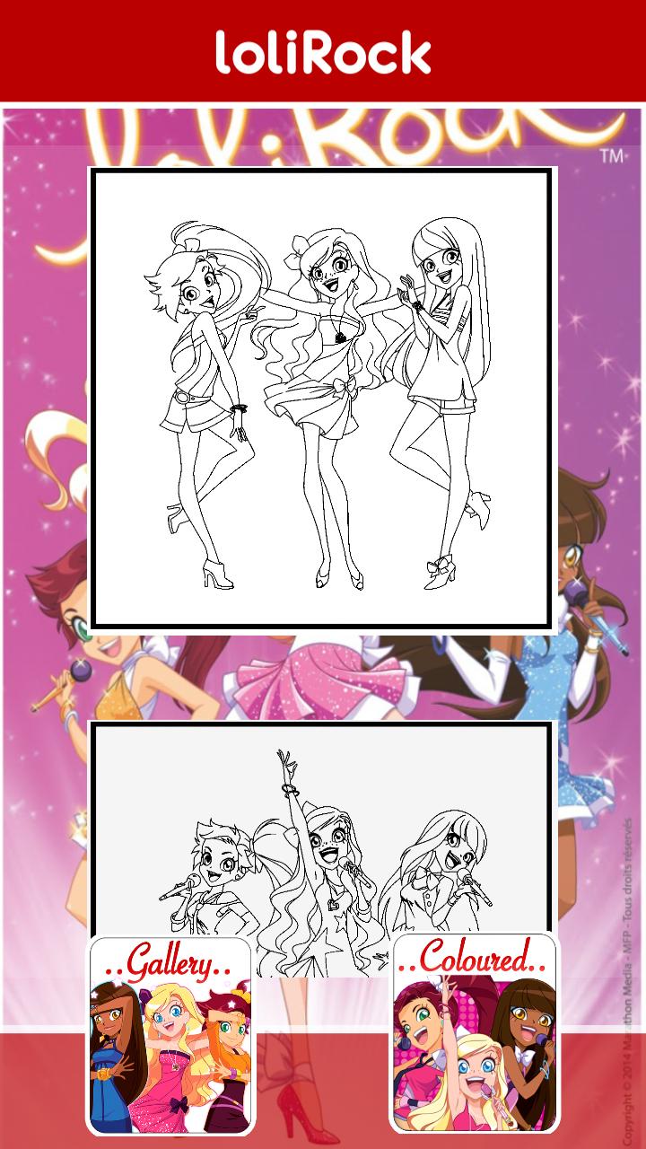 卡通萝莉填色-应用截图