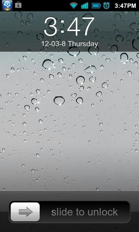 iPhone4S手机主题锁屏