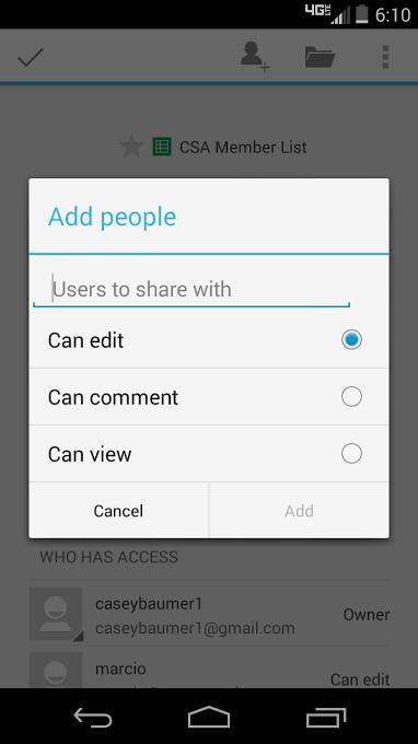 【免費工具App】Google表格-APP點子