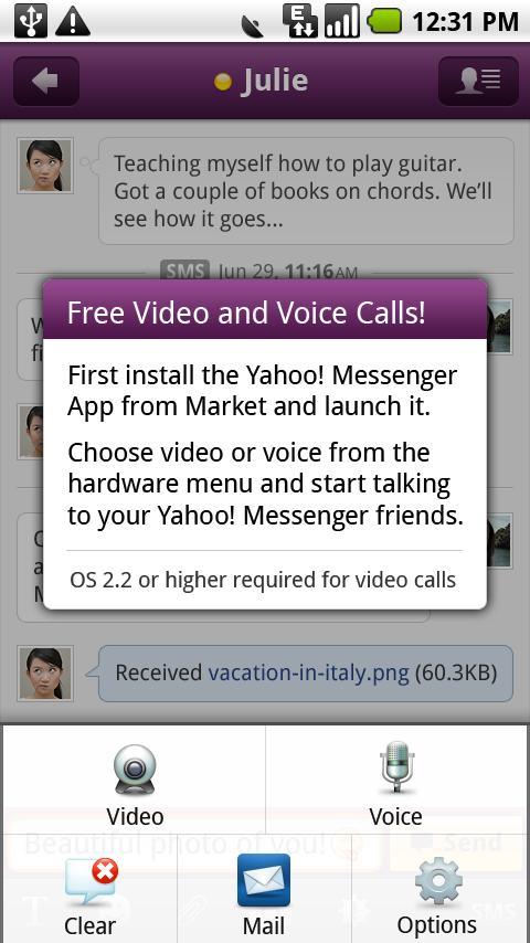 雅虎通语音和视频外挂应用