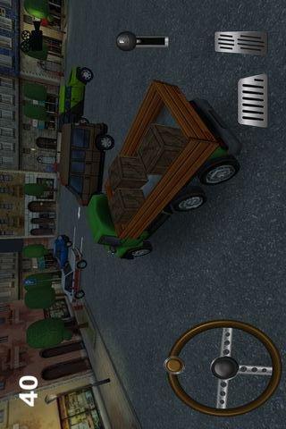 三维卡车停车场